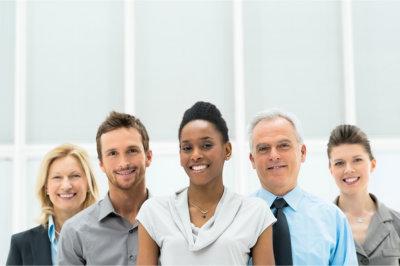 consultants smiling